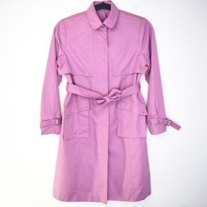 Vintage 1970s Rothschild Orchid Purple Trench Coat